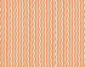Fat Quarter -- Riley Blake Designs  --  Hipster Crimp -100% Cotton Fabric - Orange