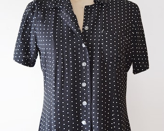1990s Polka Dot Midi Dress