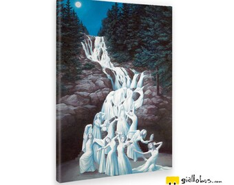 Canvas paintings Canvas-Rob Gonsalves-Water Dancing-Yellow BUS