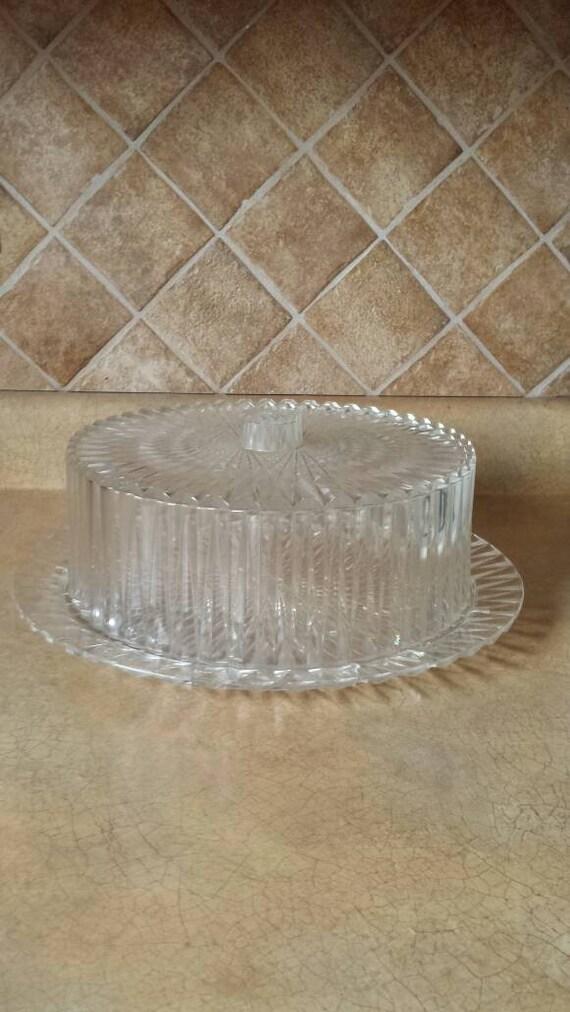 On Reserve for Tom til 5/30...Vintage Lucite Cake Plate with