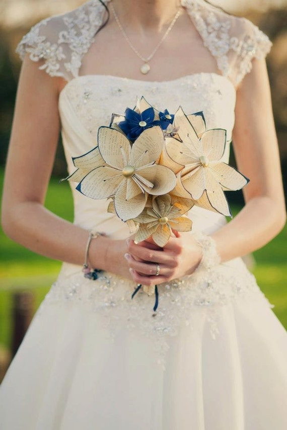 Customized Bridal Bouquet 12 inch 20 flowers made to order