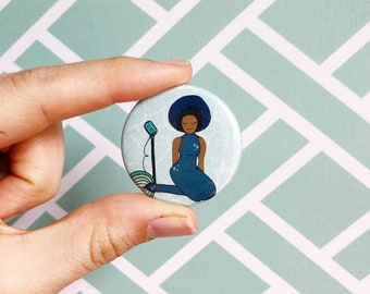 poetic noble land mermaid button // leslie knope pin// parks and recreation badge// best friend button// ann perkins pin