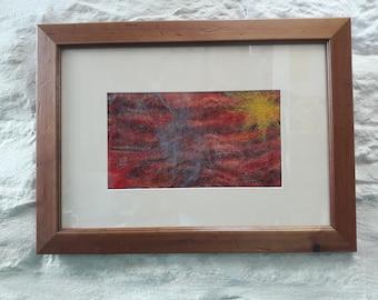 Felted wool framed art