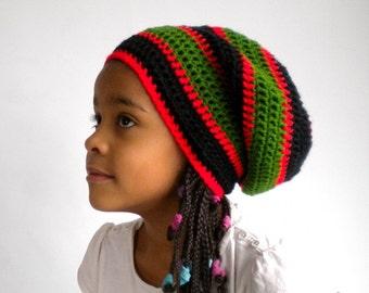 Rasta hat, Pan-African rastafari beanie, cultural clothing, Ethiopian wear
