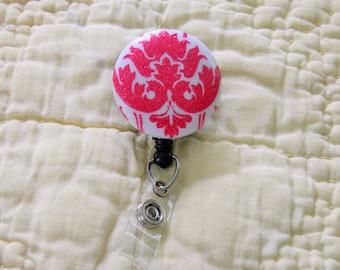 Pink Sparkle Badge Holder, ID Holder