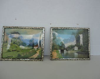 Set of 2 Miniature Pictures
