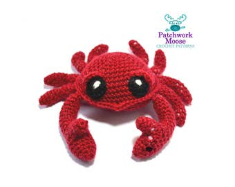 Crab Crochet Pattern PDF Instant Download - Jonah