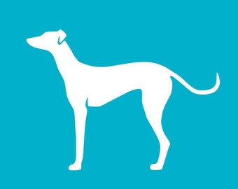 Customizable Greyhound Christmas Tree Ornament | Personalized Dog Ornament