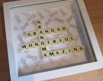Personalised Grandparent Scrabble Frame
