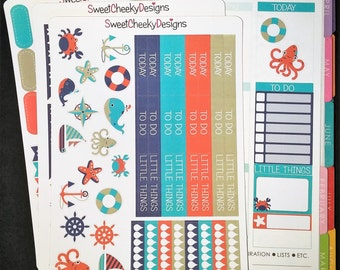 Nautical Weekly Planner Kit!  Available for Erin Condren Life Planner or MAMBI/Happy Planner