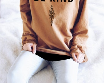 Be Kind Sweater // Spread Love Graphic Tops