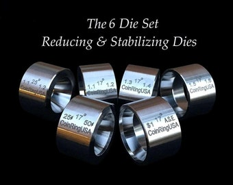 """The """"6-Pack"""" SET of UNIVERSAL Folding, Reduction AND """"Stabilizer"""" Dies made of Hardened Stainless Steel"""