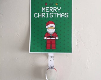 Lego Santa Christmas Countdown Paper Rings (Calendar / Childrens Decor / Advent / Party)