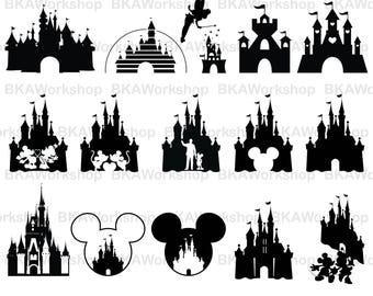 Disney castle svg - Disney castle vector - Disney castle - Disney castle digital clipart for Design or more, files download svg, png, dxf