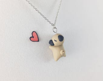 Pug Gift for Niece // Pug Necklace for Pug Lover // Charm Necklace for Best Friend Gift // Gift for Dog Lovers