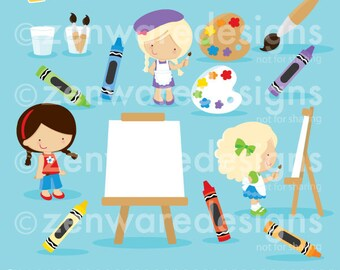 Painting Party Clipart