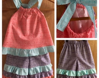 Spring/Summer Top and Ruffle Capris, size 4t