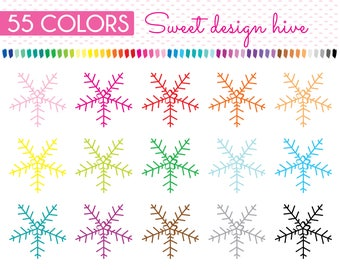 Snowflake Clipart, Christmas snow flakes silhouette, winter Clip art, planner clipart, Planner Stickers, free Commercial Use, PL0141