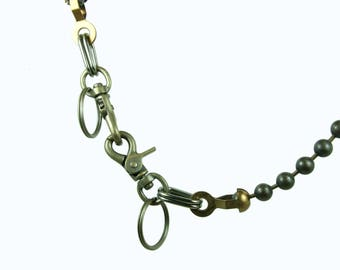30 inch Wallet Chain with 9mm antiqued ball chain