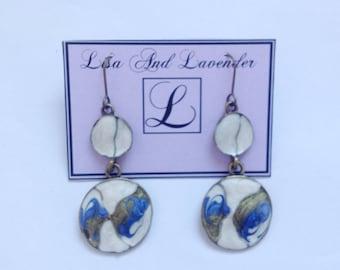 Beautiful enamel earring