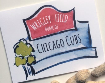 Wrigley Field Illustrated Notecards