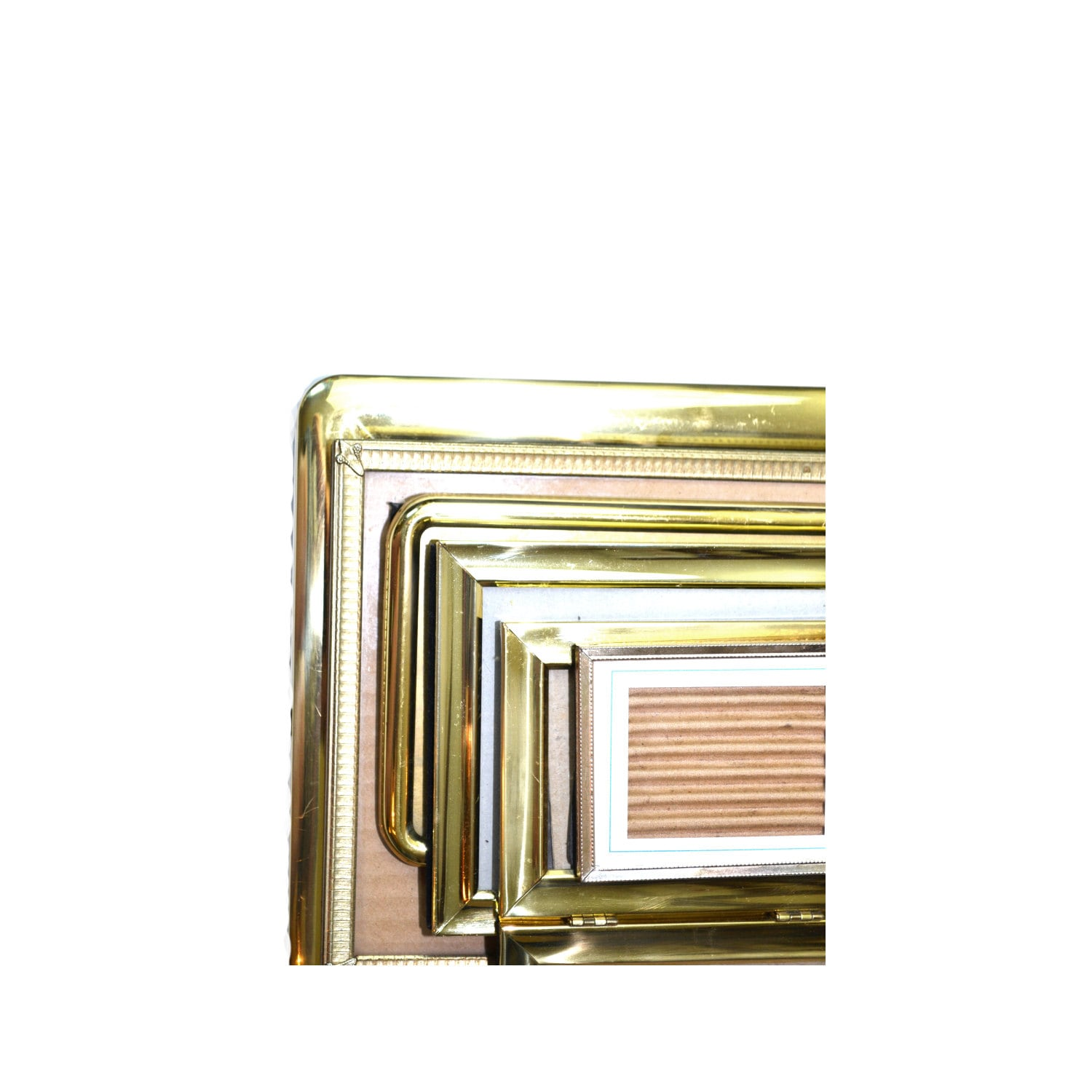 Vintage Brass Picture Frames Gold Picture Frames Stand up Picture ...