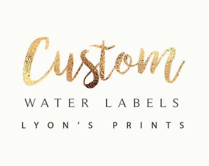 Digital water Labels - Printable - Personalized -