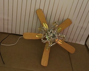 Dollhouse chandelier with lights that work and non working fan