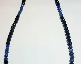 Stone Onix and Lapislazuli, Necklace man, with silver terminations 925