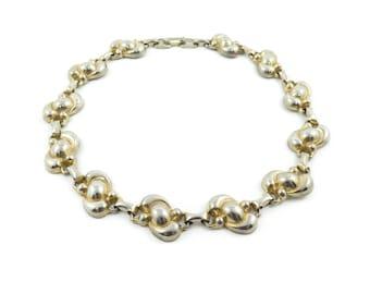 Vintage Link Necklace, Gold Tone
