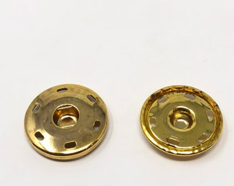 """Brass Metal Snaps Sew-On 6 HOLE 1 1/4"""" Wide - Choose Quantity"""