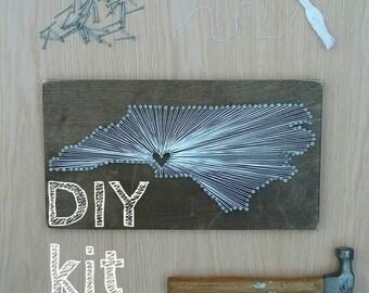 Diy michigan string art kit state string art kit michigan diy north carolina string art kit state string art kit north carolina nail art rustic wood wall art nc love nc home 9x17 freerunsca Images