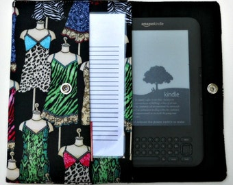 iPad Mini, Kindle, Nook, Kobo, Sony Reader, Samsung Galaxy, Small eReader Padded Case / Cover / Sleeve (READY TO SHIP) - Lingerie