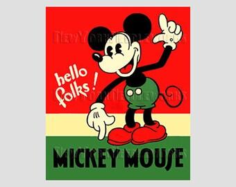 Mickey Mouse Pattern, Mickey Pattern, Vintage Disney Pattern, Cross Stitch, Needlepoint, Mickey Mouse, from NewYorkNeedleworks on Etsy