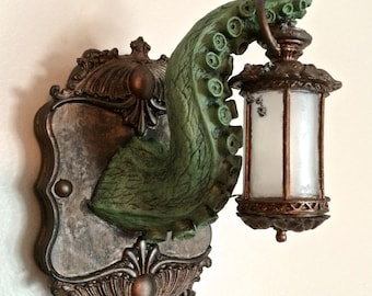 Tentacle Lantern Wall Plaque with LED Light Feature