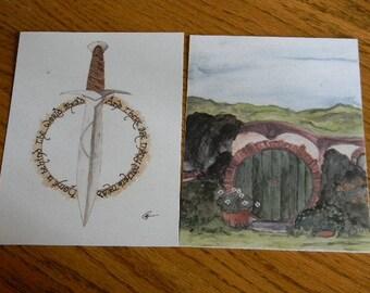 Set of HOBBIT Themed Art Prints
