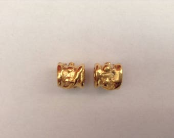 Metal spacers gold cord x 2