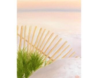 Beach Painting, 11 x 14, Oil Painting, Original Art, Landscape Painting, East Coast Beach Painting, Sunset Painting, Beach House Art