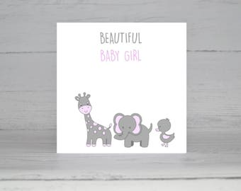 New Baby Girl card, New Baby card, It's a girl, Baby girl