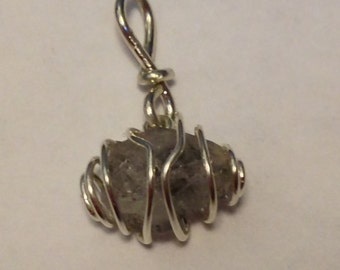 Herkimer Diamond  caged in Sterling Silver