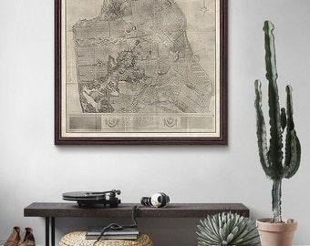 San Francisco Map 1905, San Francisco Print, California Map, City Street Map, Vintage Map- CP151