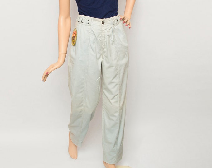 NOS Vintage 80's faded blue pants trousers baggy legs