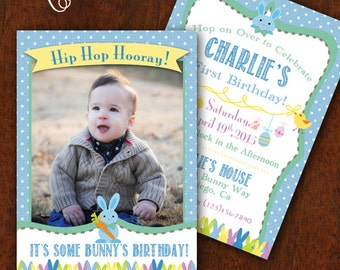 Boy Easter Birthday Invitation Easter Egg Hunt Easter Party Easter Birthday Party Invitation 5x7 Printable Spring