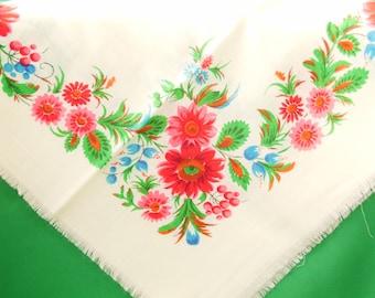 Châle russe châle en laine Vintage châle châle vintage soviétique Floral châle écharpe en laine belle étole châle vintage en laine dames Chale