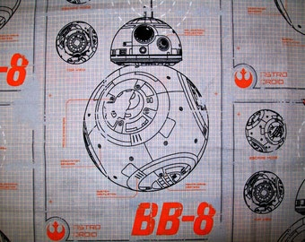 Child's Long Sleeve Art Smock - Star Wars - BB8   - Made to Order