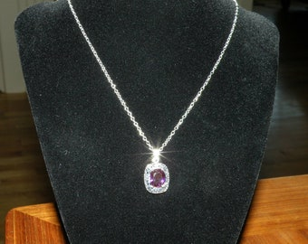 Amethyst Filigree Pendant Necklace
