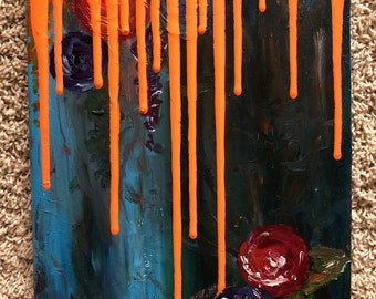 Flower Drip Painting III
