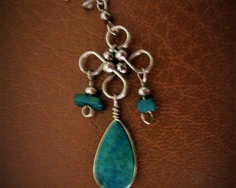Ethnic style Turquoise earrings, mothers day