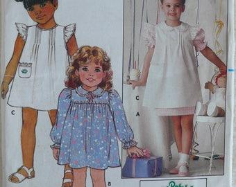 Girl's Dress Pattern, Cabbage Patch - Vintage Butterick 6595 - Size 6