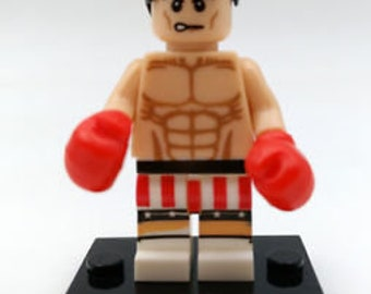 Rocky Balboa Minifigure fits LEGO Sylvester Stallone Boxing